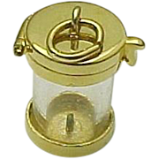 Gold Plated Vermeil Capsule Pendant