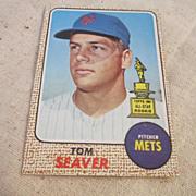 SOLD Vintage Topps 1968 Tom Seaver Baseball Card #45 - Red Tag Sale Item