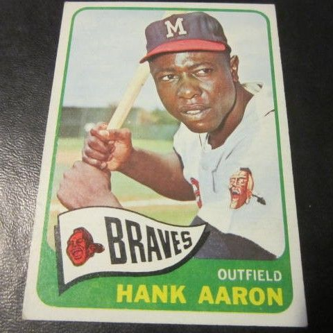 Vintage 1965 topps baseball card hank aaron from somethingwonderful on