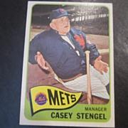 SOLD Vintage 1965 Topps Baseball Card Casey Stengel - Red Tag Sale Item