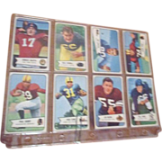 Set of 8 1954 Bowman Football Cards