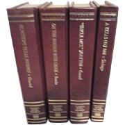 SOLD Set of 4 Leather Bound Gilt Edged Classics of the Old West