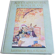 1935 Alice's Adventures in Wonderland Illustrated by Hudson