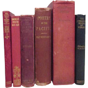 Set of 6 Old Poetry Books 1867-1937
