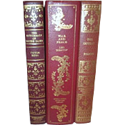 Set of 3 Classics from International Collector's Library Odyssey War & Peace and Hunchback of