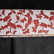 SOLD Vintage  Chinese Cloisonne Cigarette Box With Hinged Lid - Red Tag Sale Item