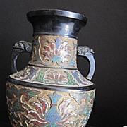 Antique Bronze Champleve Vase Late 19th century
