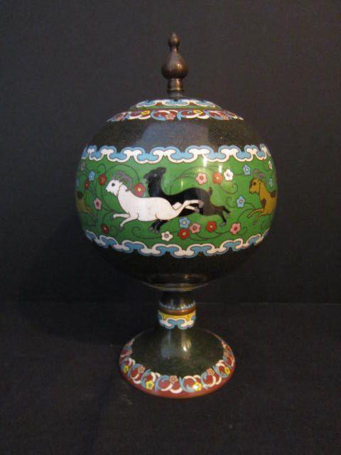 Antique Japanese Cloisonne Tea/Spice  Caddy