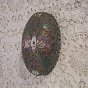 Vintage Champleve Cloisonne Egg/Box
