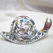 Multicolored Cloisonne Snail