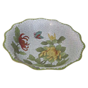 Cloisonne Bowl with Chrysanthemums Made in the Peoples Republic of China