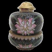 Cloisonne Oriental Stacking Salt & Pepper Set