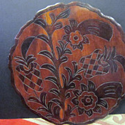 """Vintage Hawaiian Carved  Wood Double Sided Tray-19"""""""