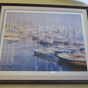 """Vintage Limited Edition Lithograph Print """"Fisherman's Bay"""" By Chi-Leung-Yuen"""