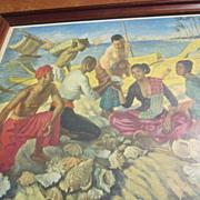 Print of Girl Selling Sea Shells by the Seashore