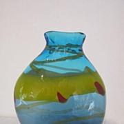 """Hand Blown  11 1/2"""" Art Glass Vase"""