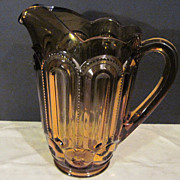 Vintage Amber Colored Pitcher