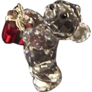 REDUCED Vintage Swarovski Miniature Teddy Bear With Gift