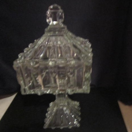 Vintage Old Footed Candy Dish with Lid