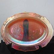 Vintage Carnival Glass Marigold Patterned Platter