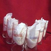 Set of 6 Highball Tumbler Glasses from Harrah's
