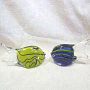 Pair of Art Glass Fish
