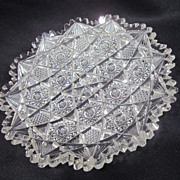 Vintage Cut Crystal Shallow Candy Dish