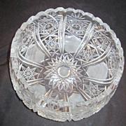 Crystal Cut Stars Design Bowl