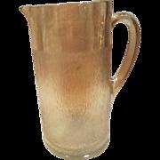 Carnival Glass Tree Bark Pattern Iridescent Water Pitcher