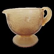 Amber Glass Creamer