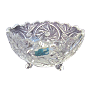 Footed Oval Crystal Bowl Made in Poland