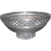 Large Crystal Serving/Fruit Bowl with Ribbed and Diamond Pattern
