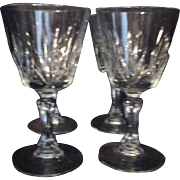 Set of 4 Wine Goblets from France