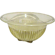 Federal Glass Co. Ribbed Sides Amber Mixing Bowl