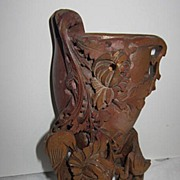 Vintage Chinese Soap stone  Vase Carving