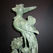Vintage Hand Carved Jade Bird