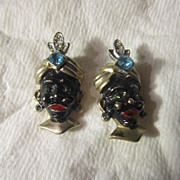 Vintage Pair of Blackamoor Pins