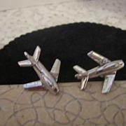 Vintage Jet Airplane Cufflinks by Swank