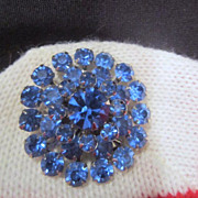 Blue Rhinestone Pin (Brooch)