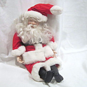 "Ceramic Santa 22"" Doll"