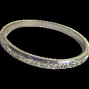Whiting & Davis Silvertone Solid Bracelet