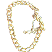 SOLD Monet Chain Bracelet with Safety Chain