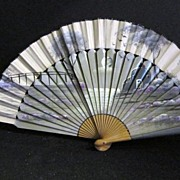 Vintage Hand Painted Fan