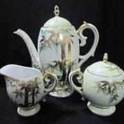 Vintage Japanese Tea Pot With Creamer And Sugar
