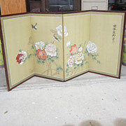 SOLD Vintage Hand Painted Chinese Screen - Red Tag Sale Item