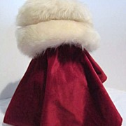 White Fur Hat for Winter Warmth