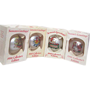 4 Campbell's Soup Kids Annual Christmas Globe Decorations