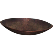 SOLD Antique Primitive Oval Wood Dough Bowl