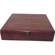 Walnut Poker Chip Box by Consider H. Willett, Inc with Clay/Composition Chips Two Decks
