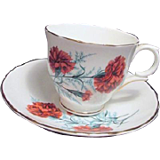 Crown Staffordshire Fine Bone China Cup and Saucer from England